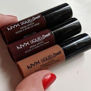 3/$20 👌🏻NYX Liquid Suede Lipstick - Nudes 3-Pack